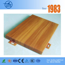 Cheap metal building materials roofing facade panel wood grain aluminum solid panel