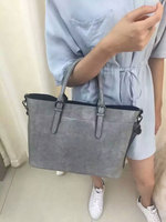 New arrival high quality fashion designer vintage leather handbags for women waxy leather shoulder bags from Guangzhou factory