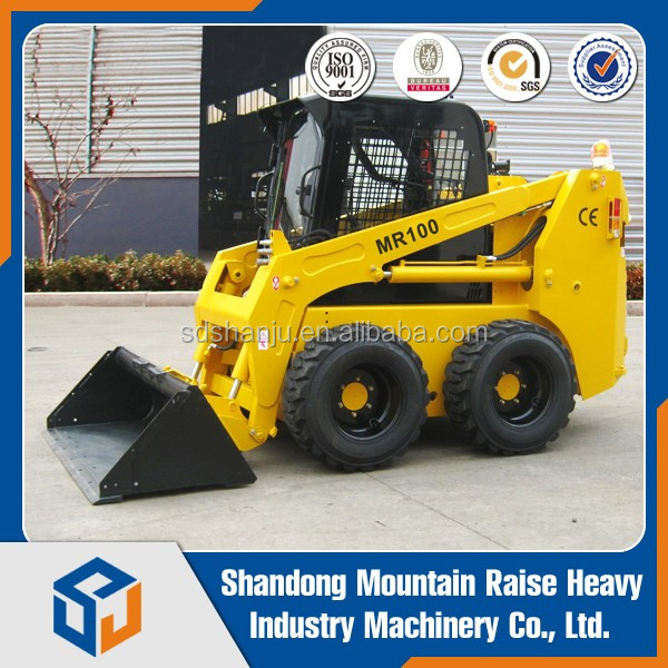 mini China Manufacturer Brand Mountain Raise NEW 1.1t. skid steer loader price
