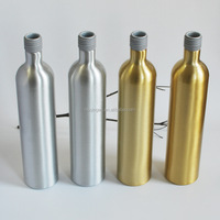 Food grade Long neck aluminum bottles for vodka bottle,liquor bottle 150ml 200ml 250ml 300ml 350ml 400ml