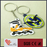 high quality 3d customized hot sale custom soft pvc keychains for sale