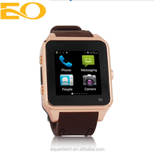 water resistent 3g WCDMA Android 4.4 dual core watch phone