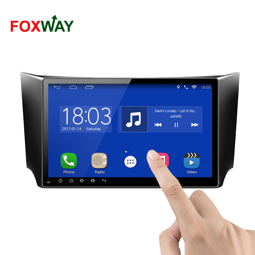 FOXWAY factory android car dvd player for Nissan NP300 with audio radio multimedia gps navigation system