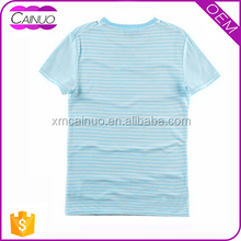 Round Neck Blank Striped T-Shirt With High Quality Ink
