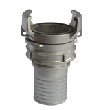 Stainless Steel Hose end with Helico Serrated Fire Hose French Coupling