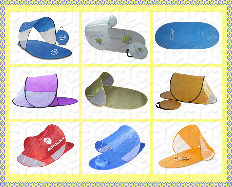 Wholesale customized folded beach sun shades outdoor