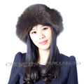 CX-C-156 New Design Ladies Knitted Real Mink Fur Cap