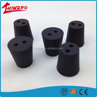High Temperature Resistant Silicone Rubber Product,Soft Silicone Rubber Feet with two holes go through