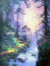Handmade modern wall art on canvas forest landscape painting L101