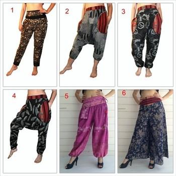 India Stylethailand Bangkok Harem Sarouel Pants Thai Mhong ...