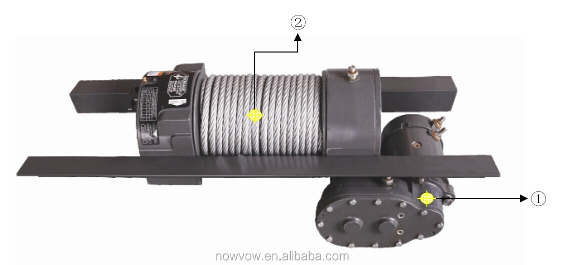 electric worm gear crane winch 12000lbs NVW12000