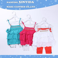 New style Cheapest korean cotton children clothing set