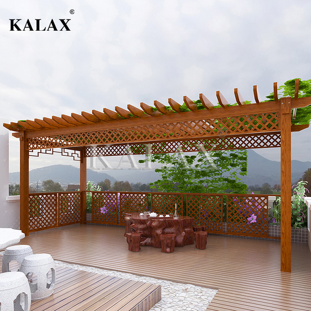 Small Trellis made of premium aluminum alloy for longer&better experience for deck