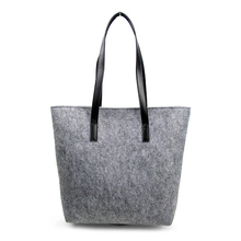 2018 tote leather bags ladies fashion felt utility bags women handbags with PU handle