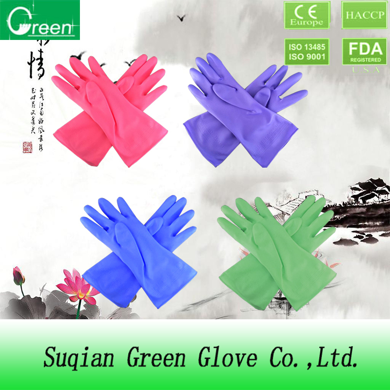 pvc colorful garden gloves with high quality