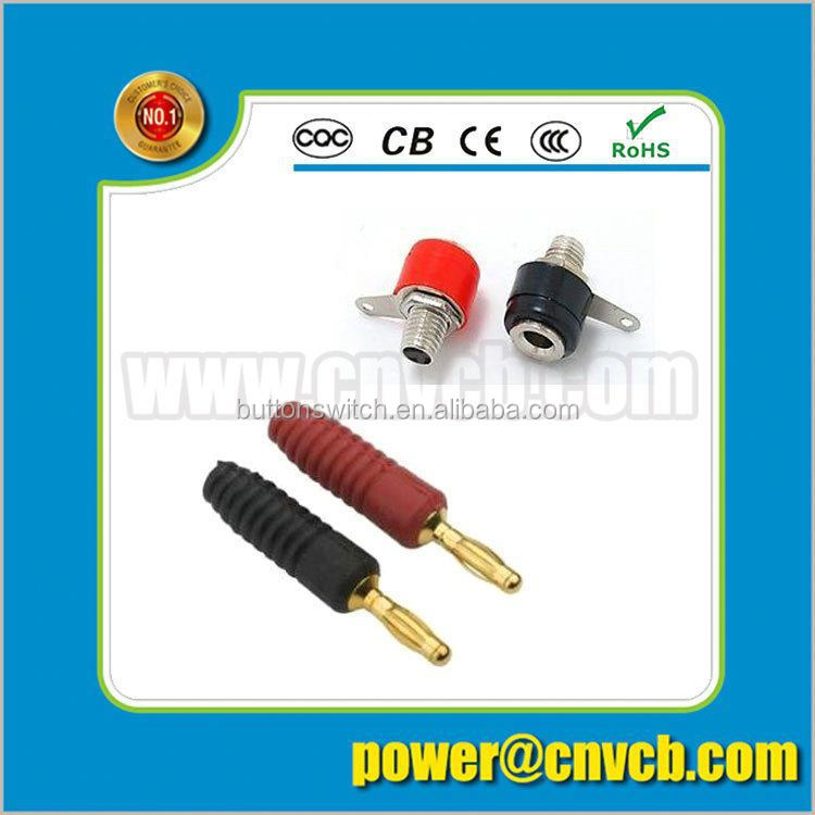 China Supplier High Quality Copper Speaker Banana Plugs, Custom Banana Plug connector