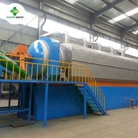 Price of continuous used tire plastic pyrolysis machine for the whole set