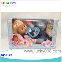 New Product reborn baby kit 14inch lifelike vinyl dolls drink urine doll Baby toys sleeping doll with real hair China Wholesales
