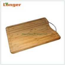 Top qaulity organic bamboo wood cutting board with carving logo