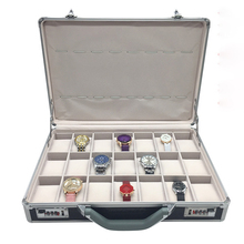 Aluminum luxury PU leather travel custom-made wrist watch case