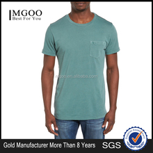 T-Shirt Ribbed Plain Men T Shirt Custom Branded Logo Pocket Tee Shirt Embroidered Uniform Casual Tee Top