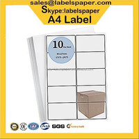 A4 labels Printer Labels Direct print 99.1mm x 57mm sheet A4 paper with single integrated