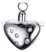 Stainless Steel Ash Pendant Urn Pendant Cremation Jewelry To Stay Together