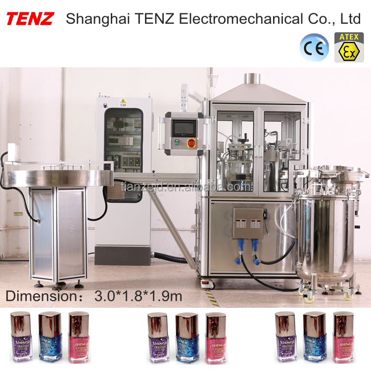 TENZ nail polish <strong>manufacturing</strong> filling and capping machine