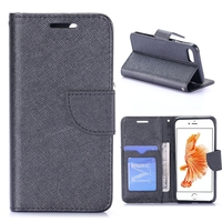 Genuine card slot leather wallet case for iphone 7