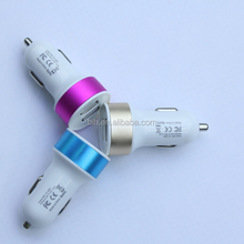 Colorful 12v Universal dual USB cell phone car charger