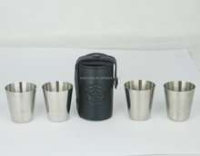 Travel Cups shot glass Set of 4 Whisky Wine Spirits Golf Picnic Camping Festival
