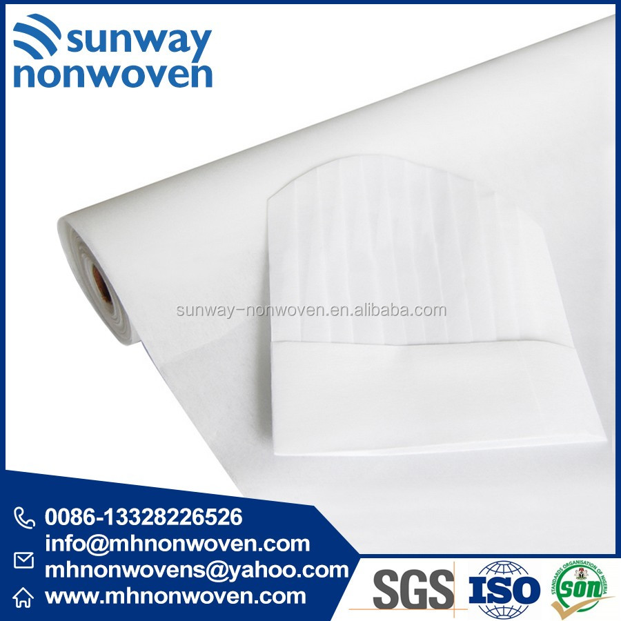 Non woven interlining fabirc for chef hat 1050H 1060H 1070H