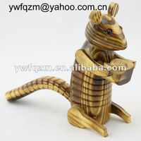 wood carving crafts squirrel