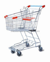 60 liter Steel Material and Plasti Surface Handling shopping cart Trolley