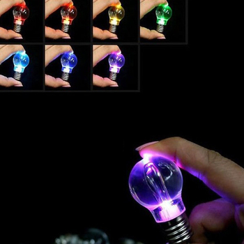 Promo wholesale custom-made Bulb Key Chain all kinds Led Light Bulb Keychain