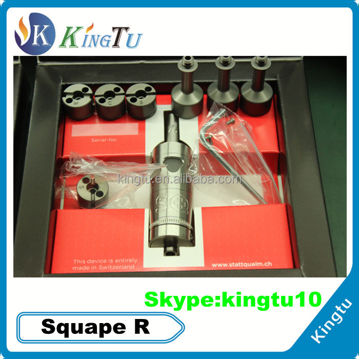 kingtu newest squape reloaded clone RTA/Rebuildable Tank Atomizer Stainless steel squape reloaded clone/squape2/squape r clone