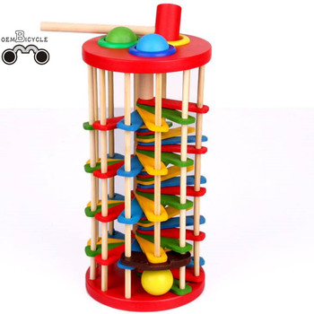 Educational Wooden Toys Knocking Ball Wooden Toy with ladder toys