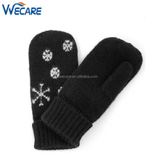 Fashionable Outdoor Windproof Full Finger Mittens Warm Long Knit Women Winter Gloves