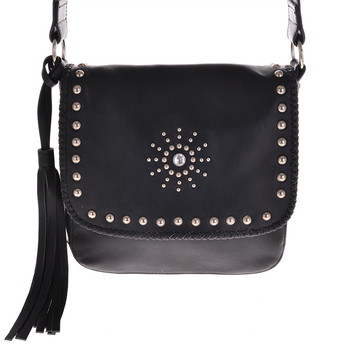 Best selling fashion rivet genuine leather bag