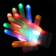 LED Lighting Gloves Flashing Cosplay Novelty Glove,Special Toy For Halloween & Carnival Party