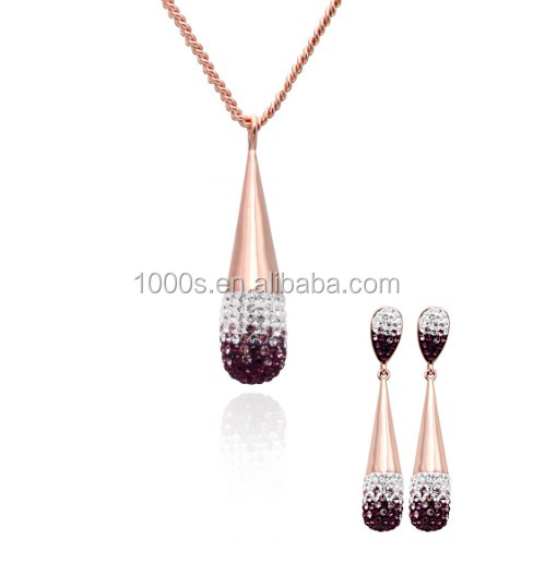 Grape Wine Burgundy Red Crystal Jewelry Set Wholesale