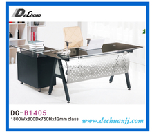 Multi-functional metal and glass high end console table/office computer desk with metal legs