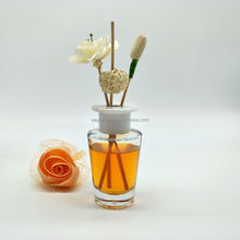 130ml fragrance round reed diffuser glass bottle container with gold screw cap