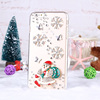 Handwork DIY 3D Glitter diamond pc hard case for iphone 5 6 Santa Claus transparent mobile phone case for iphone6 6s plus