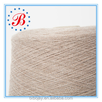 Factory Supplier Eco Friendly soft blended yarn hot sale for Knitting and Weaving 90% Polyester 10% Wool Blended Yarn