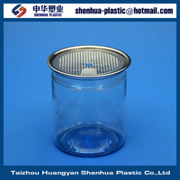 450g 15oz plastic cans manufacture china 450ml PET clear plastic cans