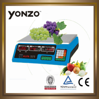 Yz-208 Colorful housing LED or LCD dual side display 4v or 6v battery electronic digital balance definition