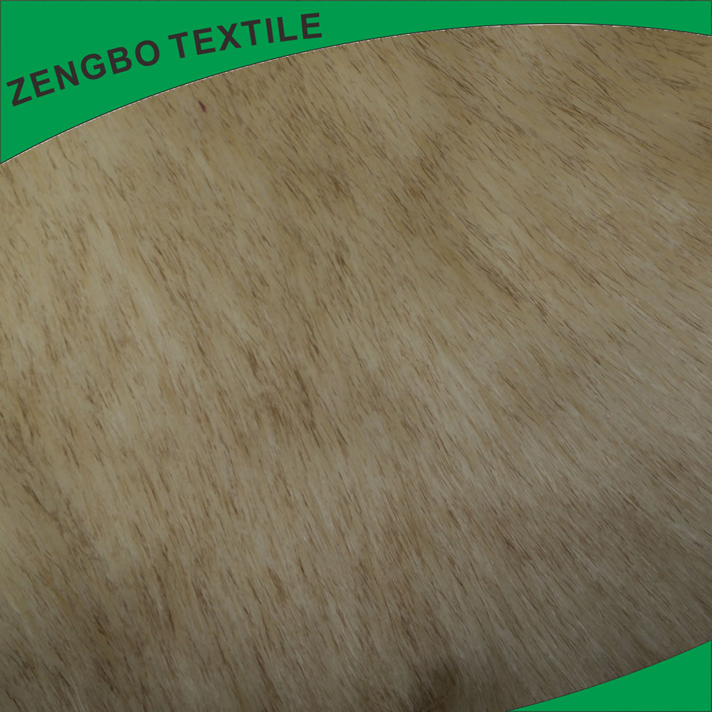 Polyester long pile faux fur plush fabric for making soft toys from Shaoxing