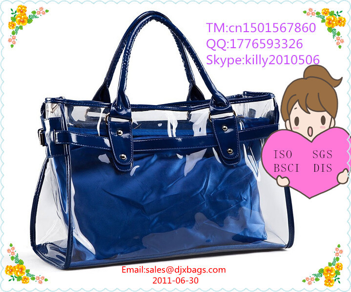 Clear pvc tote bag clear handbag wholesale transparent bag