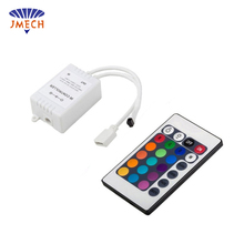 full color light led dream color 5050 flexible waterproof rgb led strip 24v controller ir 24 key remote